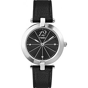 Timex Originals T2P544 Ladies Classic Black Leather Strap Watch