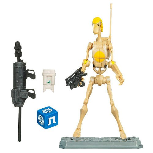 Star Wars The Clone Wars 3.75 inch Action Figure - Battle Droid Commander
