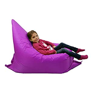 Kids BeanBag Large 6-Way Garden Lounger - GIANT Childrens Bean Bags Outdoor Floor Cushion PURPLE - 100% Water Resistant by Home And Garden