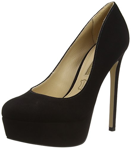 Buffalo London ZS 4578-14 KID SUEDE, Decolleté open toe donna, Nero (nero (black 01)), 36