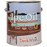 DeckWise Ipe Oil Hardwood Deck Finish, UV Resistant, 1 Gallon Can