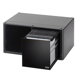 サンワダイレクト DVD・CD収納ケース 大容量 160枚収納 ブラック 200-FCD038