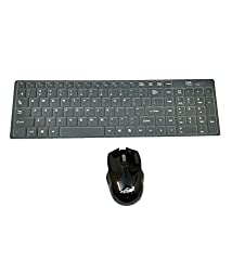 ADNET AD-515 2.4Ghz Wireless Multimedia Chiclet Keyboard and Mouse Combo pack With Free silicon Protector