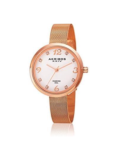 Akribos XXIV Women's AK875RG Lux Rose Gold-Tone Alloy Watch