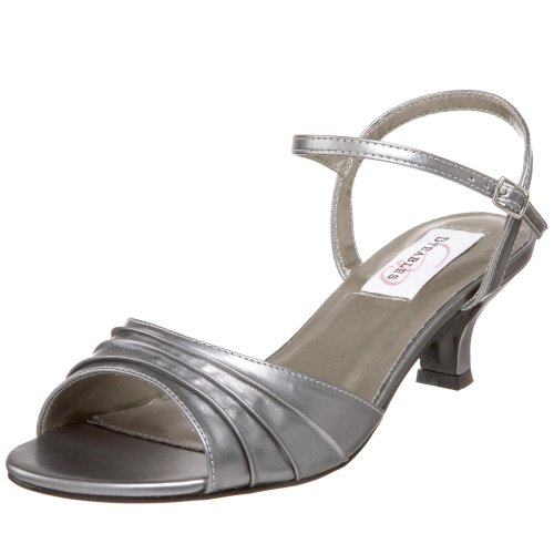 Dyeables Women's Brielle Ankle-Strap Sandal,Pewter Metallic,9 M US