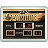 Purdue Boilermakers Clock - 14''x19'' Scoreboard at Amazon.com
