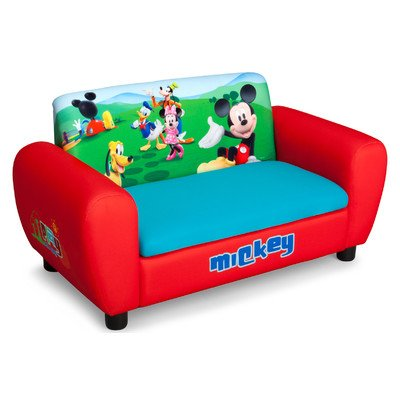 Delta Children's  Products Mickey Mouse Upholstered Sofa at Amazon.com