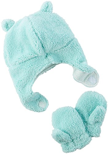 Carter's Baby Girls Winter Hat-Glove Sets D08g186, Turquoise, 0-9M