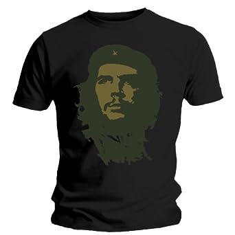 Che Guevara -Gold Face- men's black tee (Large)