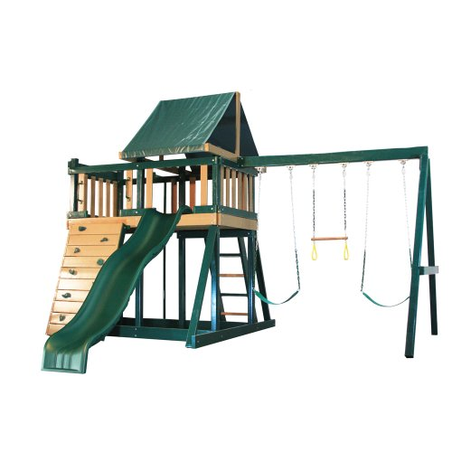 Congo Monkey Playsystem #1 With Swing Beam In Green / Brown front-906038