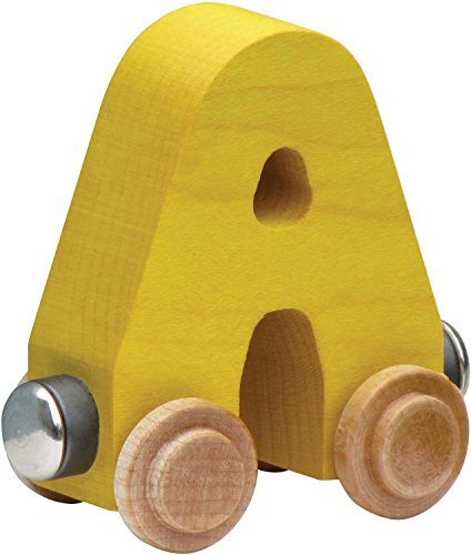 NameTrain Bright Finish Letter Cars - A (Colors may vary)