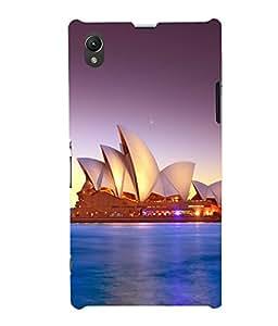printtech Lotus Australia Building Back Case Cover for Sony Xperia Z1::Sony Xperia Z1 L39h