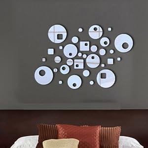 peel n 39 stick retro stick on wall mirror. Black Bedroom Furniture Sets. Home Design Ideas