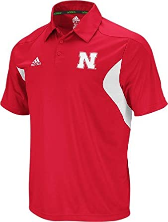 Nebraska Cornhuskers Adidas 2011 Sideline Adizero Red Performance Polo Shirt by adidas