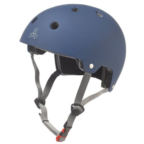 Triple Eight Certified Rubber Helmet (Blue, Small/Medium)