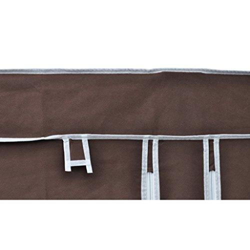 Armoire étagère de rangement marron chocolat
