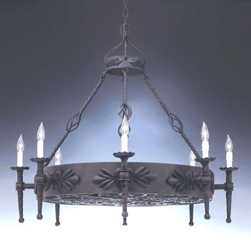 Designers Fountain 9185-NI Alhambra 8-Light Island, Natural Iron