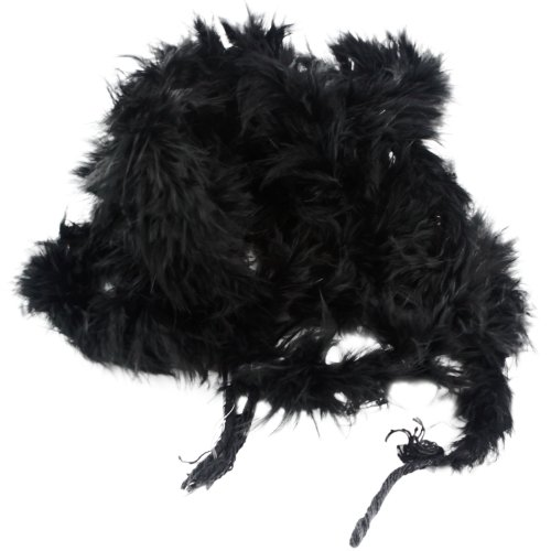 niceEshop(TM)Large Costume Accessory Feather Boa great for hen and stag nights-Black