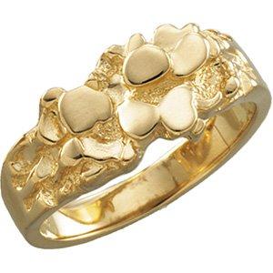 10K Yellow Gold Men's Nugget Ring Mounting