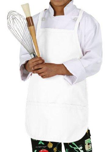 Chef Works A3002-Wht Kid'S Chef Apron, White