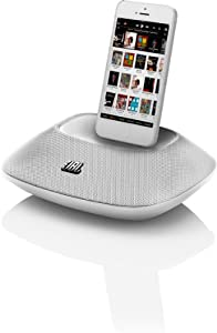 JBL OnBeat Micro Portable Speaker Dock with Lightning Connector and UK/EU Mains Adapter for iPhone 5, 5S, 5C, iPod Touch 5th Generation and iPod Nano 7th Generation - White
