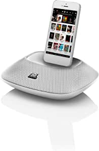JBL On Beat Micro Enceinte Audio Station D'Accueil avec Connectique Lightning pour iPhone 5, 5S, 5C, iPod Touch and iPod Nano 7 - Blanc - Livré avec Prise Française et Anglaise
