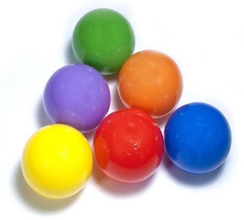 "Great Features Of 100 ""Phthalate Free"" Play Balls w/ Mesh Bag: 6 Colors - Red, Orange, Yel..."
