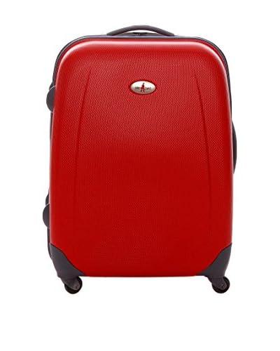 JOHN TRAVEL Trolley rígido Dublín Rojo 60.50 cm