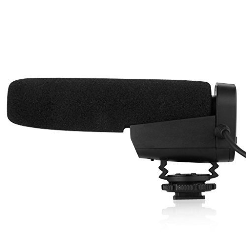 Pixel Mc-550 Photography Stereo Video Shotgun Interview Mic Microphone For Nikon Canon Dslr Camera Dv Camcorder Black-Ship From Us