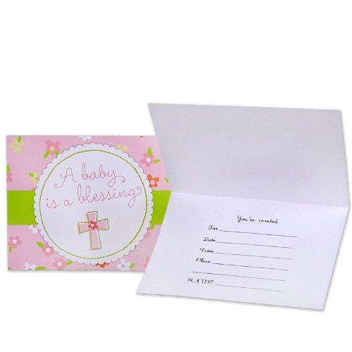 Blessed Baby Shower Girl Invitation - 8/Pkg. front-527841