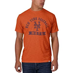 New York Mets 47 Brand Cooperstown Carrot Orange Vintage Scrum T-Shirt by