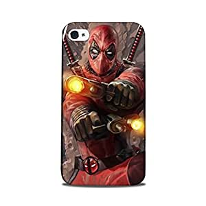 Yashas Iphone 4 / iPhone 4S Designer Printed Case & Covers (Iphone 4/ 4S Back Cover) - Superhero Deadpool