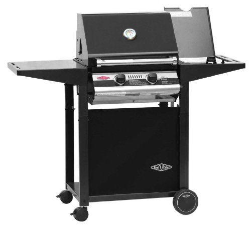 BeefEater BBQ  2 Burner 900 Series Deluxe BBQ with Side Burner and Metal Trolley