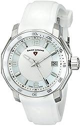 Swiss Legend Women's 16191SM-02-WHT Blue Geneve Analog Display Swiss Quartz White Watch