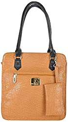 4EM-BOSS Womens Beige Leather Handbag