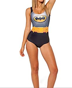 R LivE Women Costume Bathing Superman Batman Suits Bikini Push-Up Swimwear One piece