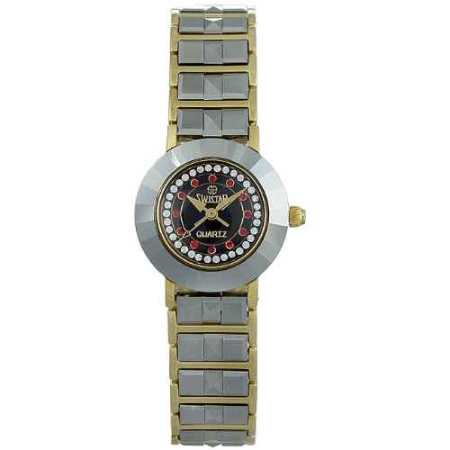 SWISSSTAR Womens Quartz Stainless Steel Watch