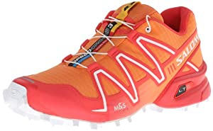 Salomon Women's Speedcross 3 Trail Running,Orange Feeling/Papaya/White,8 M US