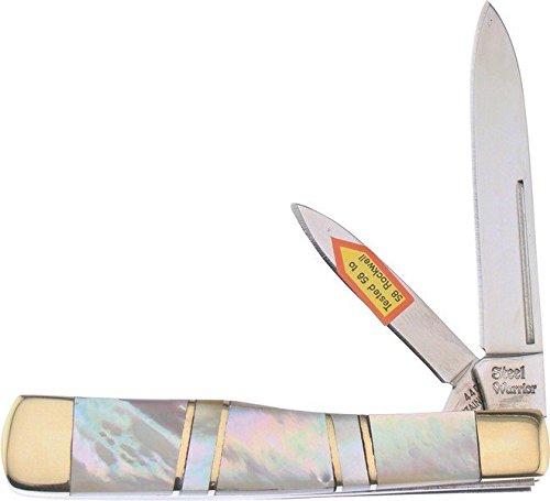 Frost Cutlery & Knives SW169MOP Steel Warrior Gunstock   Mother of Pearl Handles