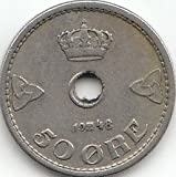 Noruega km-Nr. : 386 1948 muy Cobre-níquel 1948 50 oere coronada monogramas (para monedas de coleccionista)