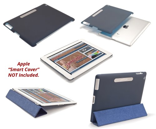 rooCASE Dual-View Multi Angle Leather Folio Case for The new iPad / iPad 2