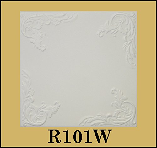 tin-look-glue-up-ceiling-tiles-20x20-styrofoam-extruded-polystyrene-r101w-lot-of-8