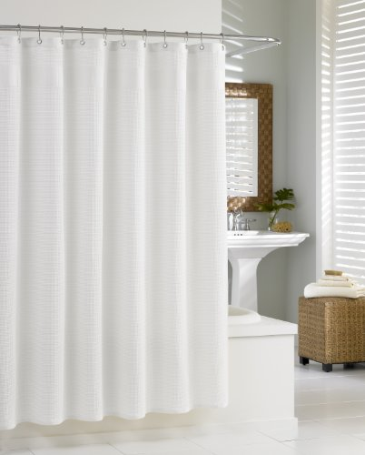 kassatex-scs-115-waf-w-waffle-shower-curtain-white
