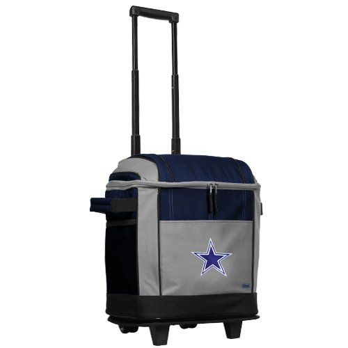 NFL Dallas Cowboys 50 Can Soft Sided Rolling Coleman Cooler at Amazon.com