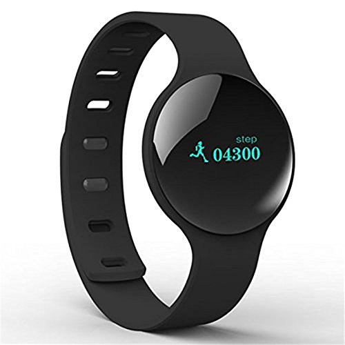 Happy Hours® Wireless Smart Watch H8 Intelligent Sleep Test Exercise Program Step Sport Wristband Health Fitness Tracker Record (Black)