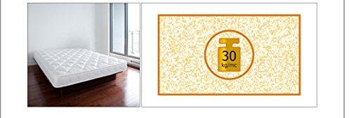 Materasso 1 piazza e mezzo Lusso 20 A H 20 CM, Larghezza 145, Lunghezza 195/200 cm, Rivestimento Stretch 100% PL