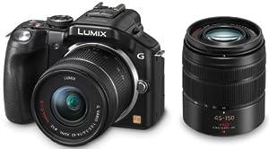 Panasonic Lumix G5W Kit Compact hybride 16 Mpix + Lumix G Vario 1:4 + Lumix G Vario 1:4 Noir