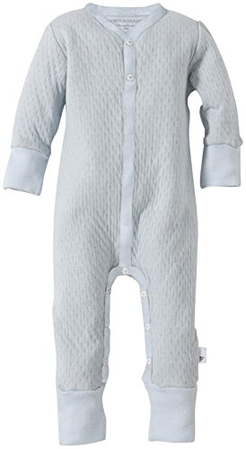 Burt'S Bees Baby Baby Boys' Quilted Footless Coverall (Baby) - Sky - 0-3 Months front-914646