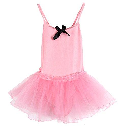 PanDaDa Girls Party Ballet Tutu Dance Dresses Cute Leotard Sleeveless Skirt ...