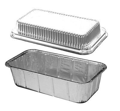 Handi-Foil 2 lb. Aluminum Foil Loaf Bread Pan Tin w/Dome Lid Heavy Duty Hfa #316 (pack of 15) (Aluminum Loaf Pan With Lid compare prices)